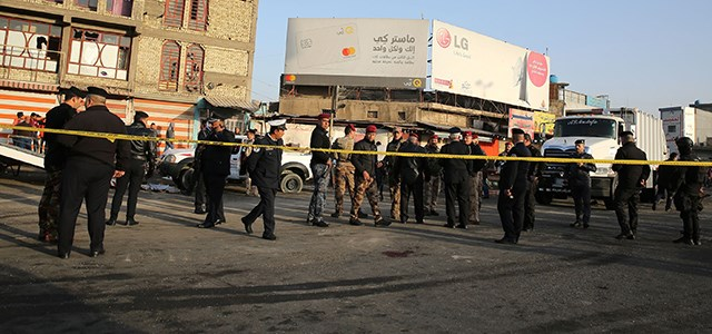 Security forces cordon off the area where a double suicide bombing struckcentral Baghdad on January 15, 2018. Photo: Sabah Arar | AFP