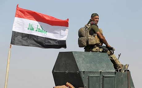 A member of the Iraqi forces in the outskirts of the oil-rich Kirkuk. File photo: AFP