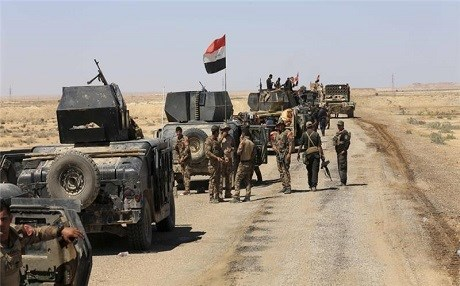 Iraqi Army troops in Anbar province. AP file photo