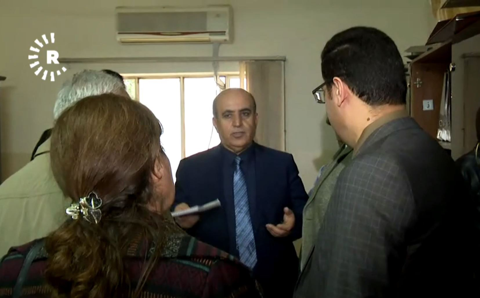 An Iraqi financial oversight committee visited KRG Ministry of Martyrs and Anfal Affairs. Photo: Rudaw TV