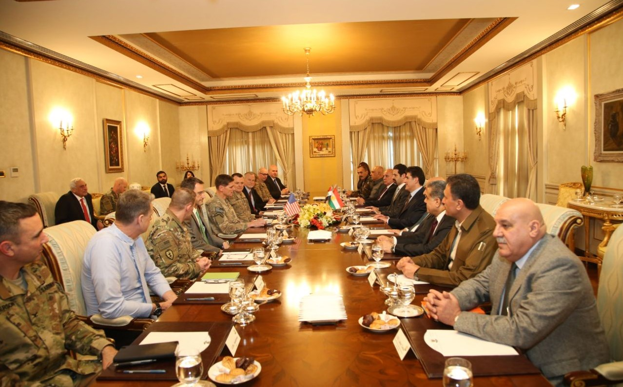 KRG leaders welcome a US military delegation led by CENTCOM Commander Gen. Joseph Votel. Photo: KRG
