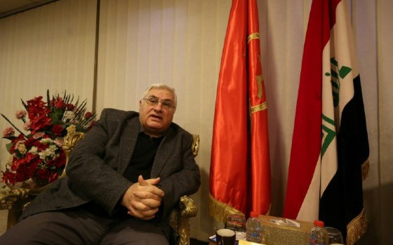 Raed Fahmi, secretary of the Iraqi Communist Party, at his headquarters in Baghdad in February. Photo: Ahmad al-Rubaye/AFP