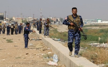 Iraqi police forces patrolling the disputed city of Kirkuk. AFP file photo