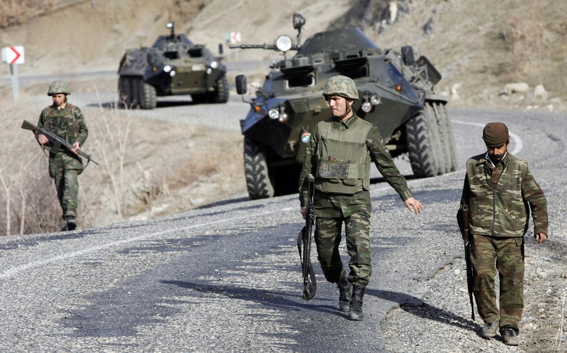 Turkish forces patrolling near the Kurdistan Region border. File photo: Mustafa Ozer/AFP
