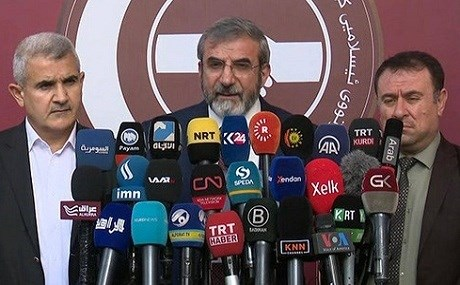 In a joint statement, Salahadin Bahadin, the head of KIU, said the parties demand a repeat of Saturday's election in the Kurdistan Region, Kirkuk, and the disputed territories. Photo: Rudaw
