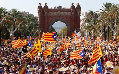 A general view of a pro-independence rally in Barcelona, Spain in June 2017. AFP file photo