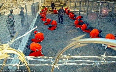 In this undated photo, captives are held at a security facility. Photo: Shane T. McCoy | US Navy