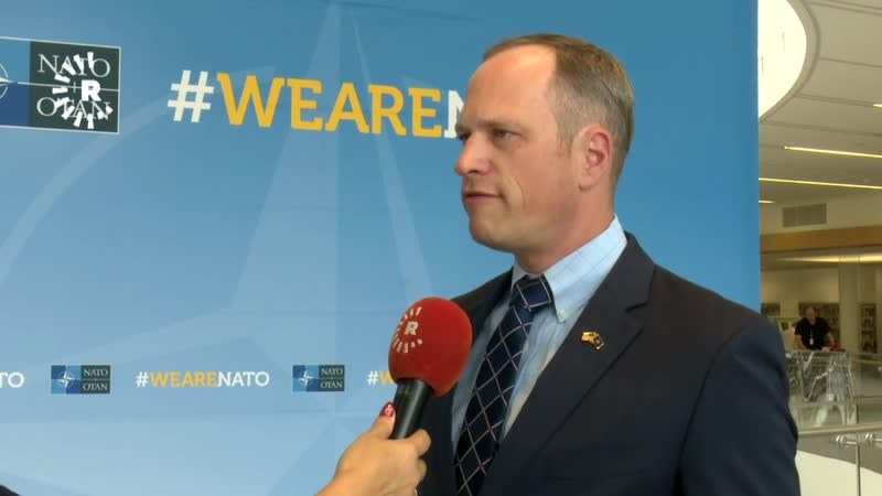 Eric Pahon, a US Department of Defense spokesperson for Iraq and Syria, speaks to Rudaw in Brussels, Belgium, on June 8, 2018. Photo: Rudaw TV