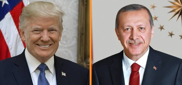 This composite image shows presidents Donald Trump and Recep Tayyip Erdogan of the United States and of Turkey, respectively. Photo: Rudaw via White House/Turkish presidency