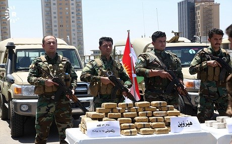 A special anti-drug taskforce in the Kurdistan Region seized narcotics in Erbil on June 26, 2018. Photo: Mohammed Shwani |Rudaw