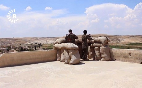 Members of the Manbij Military Council man an observation point. File photo: Rudaw