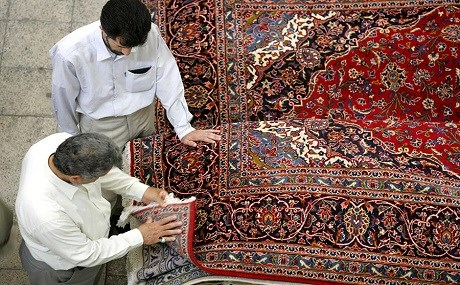Under the sanctions regime imposed on Iran prior to the 2015 nuclear deal, Iranian carpet exports to the US fell to zero. File photo: Behrouz Mehri / AFP