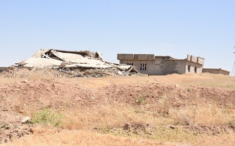 Many of Shingal's homes, religious sites, and infrastructure were destroyed as ISIS was routed from Shingal during the 2014-2017 conflict. File photo: Rudaw