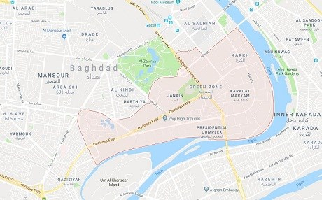 Mortars hit Baghdad\'s Green Zone, no casualties reported