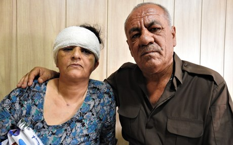 Ameenah Mahmoudi and husband Mawloud Aziz shown in this image on September 18, 2018, have lived for more than 30 years at a camp in Koya, Kurdistan Region, Iraq. Photo: A.C. Robinson | Rudaw