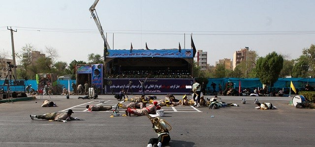 Gunmen opened fire on a military parade in Ahvaz. Photos: ISNA via AFP