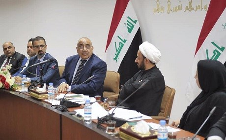 Iraqi Prime Minister-designate Adil Abdul-Mahdi met with first deputy speaker Hassan al-Kaabi on Wednesday. Photo: Abdul-Mahdi/Facebook