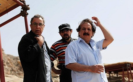 Iranian filmmaker Majid Majidi (R) on the set of Muhammad: The Messenger of God. Photo: IMBD