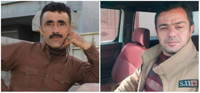 Photos obtained by Rudaw via Facebook show Peshmerga Sarhan Mohammed (left) and the now deceased Fahmi Salih.