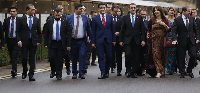 MPs from the Kurdistan Region arrive at parliament in the capital city of Erbil on November 6, 2018. Photo: Mohammed Shwani | Rudaw