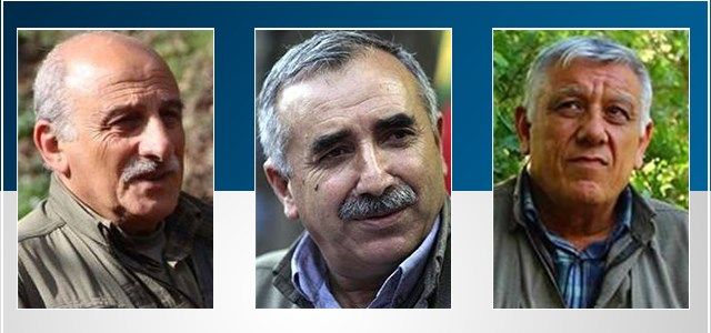 Left to right: Duran Kalkan, Murat Karayilan, and Cemil Bayik.