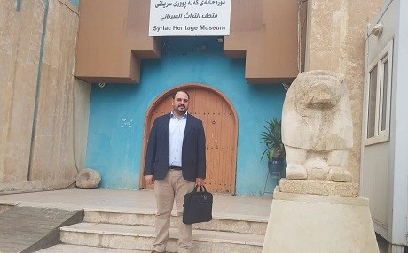 Kledo Ramzi, 35, chosen to be manager of the Syriac Heritage Museum in Ainkawa the day before, poses on November 7, 2018. Photo: Rudaw