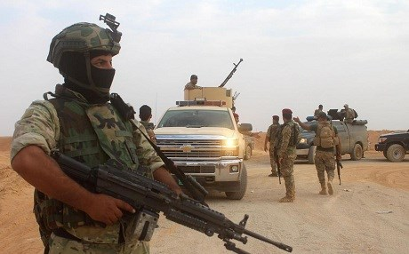 Iraqi forces near Akashat, Anbar in September 2017. File photo: AFP