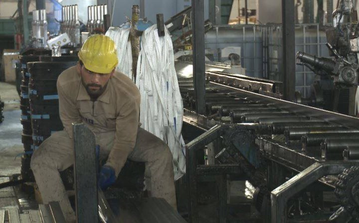 Maf Steel's factory in Duhok has been producing pipes since 2009. File photo: Rudaw TV