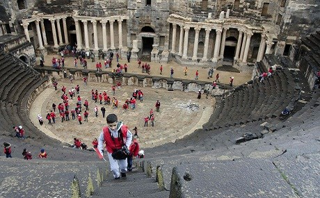 In Southern Syria Roman Theatre Survives Civil War Intact