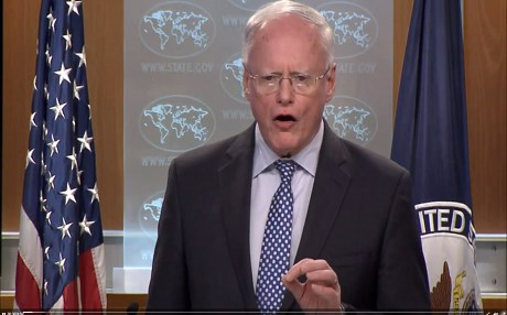 Special Representative for Syria Engagement Ambassador James Jeffrey briefs the media on the results of the Syria Small Group in Washington, D.C., on December 3, 2018. Photo: US DoS video