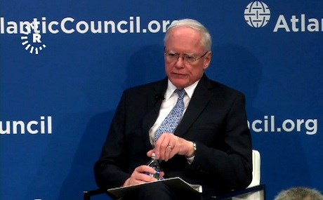 US Special Representative for Syria Engagement James Jeffrey speaks at the Atlantic Council in Washington DC, December 17, 2018. Photo: Rudaw video
