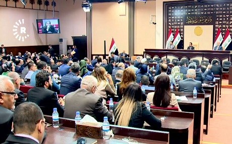 The Iraqi parliament in session. The legislature has wrapped up discussions on the budget, but passing it will still be a challenged, say Kurdish MPs. Photo: Rudaw