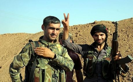 YPG fighters taking a break from their duties. Photo: Free Kurdistan/Flickr