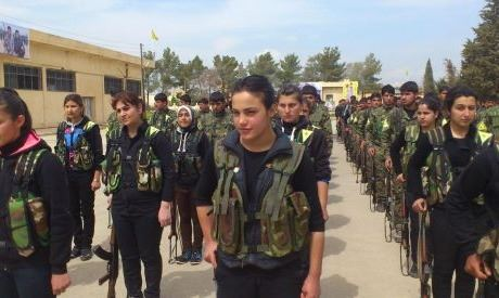 The YPG has a large number of female fighters in its force. Photo Flickr/Free Kurdistan.