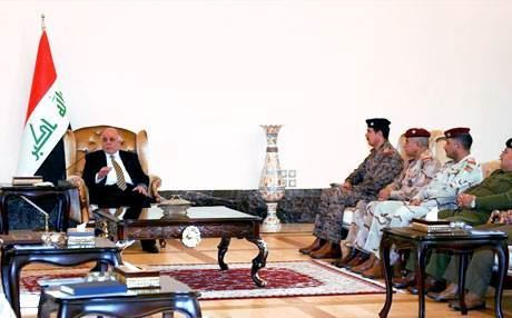 PM Abadi meets new commanders in Baghdad. Photo: Rudaw