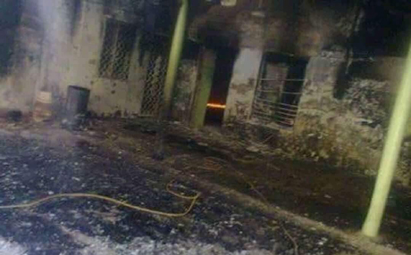 إحراق مسجدين غربي مدينة الموصل DiUJfZ4WsAABcd8 copy.jpg