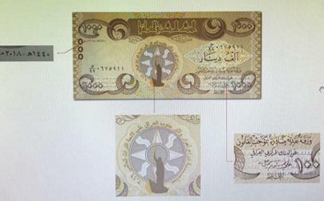 Central Bank of Iraq unveils new 1000 dinar banknote featuring A